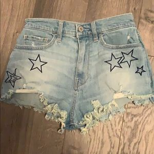 Hollister star shorts